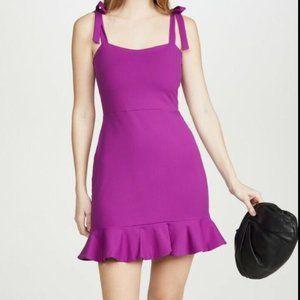 Susana Monaco Tie Strap Ruffle Hem Mini Dress XL